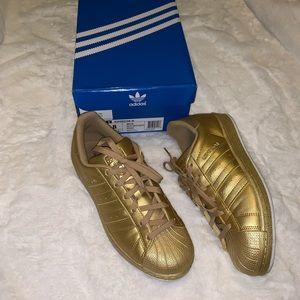 RARE Gold Adidas Superstar Originals